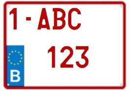 europese nummerplaat 4X4